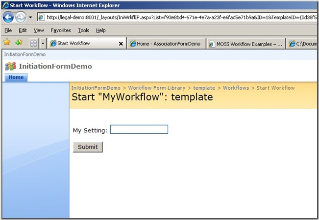 Start Workflow